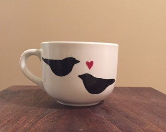 Two love birds mug