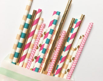 Summer Sky straw mix//paper straws, straws, party supplies, party decorations, birthday party, wedding, bachelorette party, bridesmaid, deco