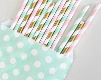 Little Unicorn straw mix//paper straws, straws, party supplies, party decorations, wedding, birthday party,bachelorette party,birthday party