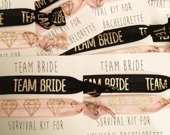 Bridesmaid hair tie favors//hair tie card, hair tie favors, bachelorette gift, bridesmaid hair ties, bridesmaid box, party favor