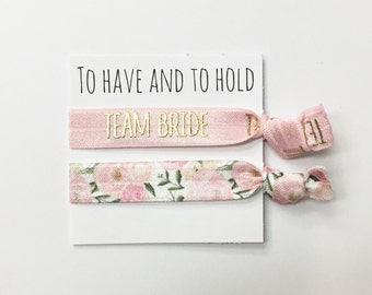 Bridesmaid hair tie favors//hair tie cards, hair tie favors, bridesmaid gift, bachelorette party, wedding, bride, party favor