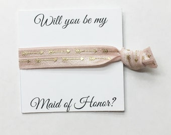 SALE//Bridesmaid hair tie favors//hair tie card, bridesmaid hair ties, bachelorette party, wedding, bride, bridesmaid box, party favor