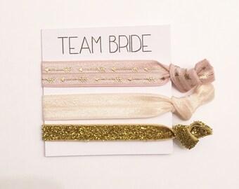 Bridesmaid hair tie favors//bridesmaid gift, hair tie card, hair tie favor, bachelorette gift, wedding, bride, party favor, hair ties