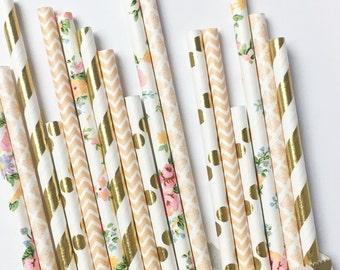 Boho Dream straw mix//paper straws, straws, party decorations, supplies, bachelorete party, birthday party, baby shower, wedding