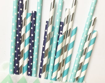 Boy Oh Boy! straw mix//paper straws, party supplies, party decorations, birthday party, baby shower, bachelorette party, wedding,