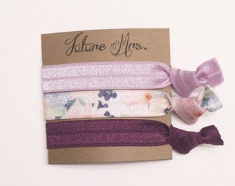Bridesmaid hair tie favor//hair tie card, party favor, bridesmaid gift, bachelorette gift, elastic hair ties, bridesmaid hair ties
