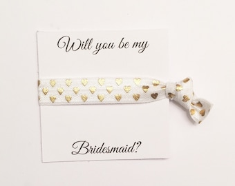 SALE//Bridesmiad hair tie favor//party favor,bridesmaid hair ties, hair tie card, bridesmaid gift, bachelorette party,bridesmaid box