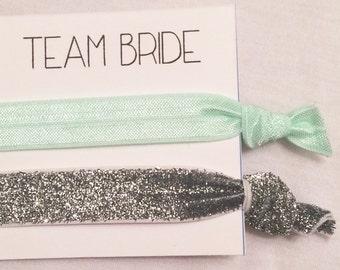 Bridesmaid elastic hair ties//hair tie favors, hair tie card, bridesmaid gift, party favor, bachelorette gift