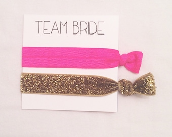 Bridesmaid har tie favor//hair tie card, hair tie favor, bridesmaid gift, bachelorette gift, wedding, party favor, bride, bridesmaid favor