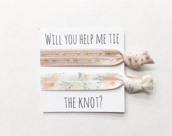 Bridesmaid hair tie favors//hair tie card, hair tie favor, party favor, bachelorette party, bridemaid hair ties, wedding, bride
