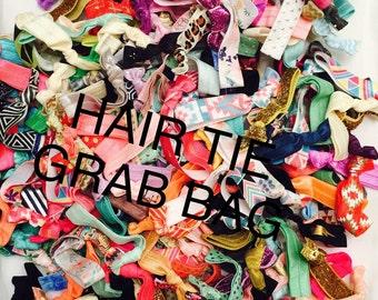 Elastic hair tie grab bag//hair tie bracelet//hair ties//party favor//