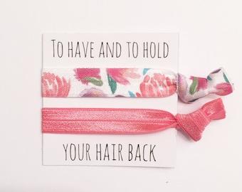 Bridesmiad hair tie favor//party favor//hair tie card//bridesmaid gift//bridal gift