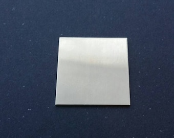 """1"""" square pewter stamping blank 18g sold in SETS OF 3, tag, jewelry supply, disc for etching, metal supply shop, jewelry, hand stamping"""