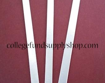 "1/4""x6"" 14 or 16 gauge Aluminum CUFF BRACELET BLANKS, metal jewelry supply, hand stamping, ring making supplies, bangle bracelet blank"