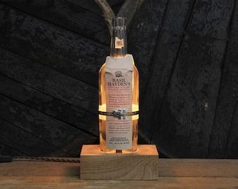 Basil Hayden Light / Whiskey Bottle Lamp, Bourbon Gifts / Bourbon Light, Gift For Him, Bourbon Lamp, Whiskey Gifts, Father's Day Gift