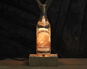 Pappy Van Winkle 23 Year Bourbon Bottle Lamp / Whiskey Bottle Light / Whiskey Gift, Bar Lamp, Bourbon Gifts, Father's Day Gift, Pappy