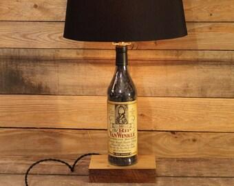 Old Rip Van Winkle Bourbon Bottle Lamp / Bourbon Barrel Char, Whiskey Light, Table Lamp, Whiskey Bottle, Bourbon Gift, Father's Day Gift