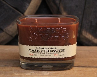 Maker's Mark Cask Strength Bourbon Candle / Gift For Him, Perfect Gift For Guy, Bourbon Gift, Whiskey Present, Fathers Day Gifts