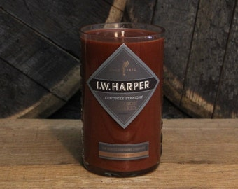 I. W. Harper Bourbon Candle Gift For Men, Father's Day Gift, Perfect Gift For Husband, Present For Brother