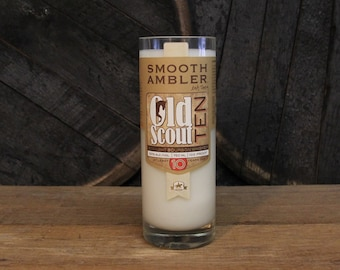 Smooth Ambler Old Scout Bourbon Candle, Upcycled Bourbon Bottle Candle, Soy Candle Man Candle, Whiskey Bottle Candle, Whiskey Gift, Man Cave