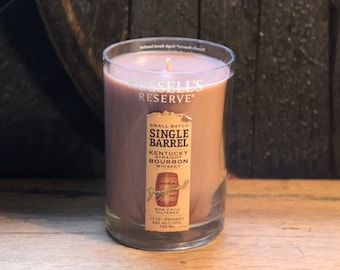Upcycled Russel's Reserve Whiskey Candle Gift, Father's Day Gift, Gift For Brother, Guy Gift