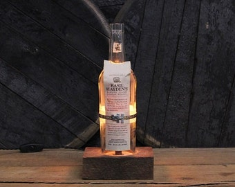 Basil Hayden Bourbon Bottle Lamp / Whiskey Bottle Light, Gift For Him, Bourbon Lamp, Whiskey Gifts, Bourbon Gifts, Father's Day Gift
