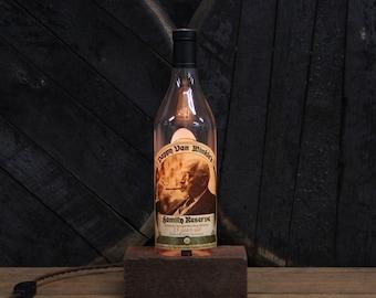 Pappy Van Winkle 15 Year Bourbon Bottle Lamp / Whiskey Light / Bourbon Guy Gift, Gift For Boyfriend, Present For Men, Whiskey Gift, Bar Lamp