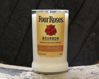 Four Roses Whiskey Candle / Bourbon Candle, Gift For Dad, Gift For Guys, Gift For Him, Gift For Uncle, Father In Law Gift, Fathers Day  Gift