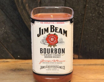 Jim Beam Whiskey Candle, Uncle Gift, Perfect Gifts For Guys, Bourbon Gift, Whiskey Present, Soy Candle, Bourbon Candle, Fathers Day gifts