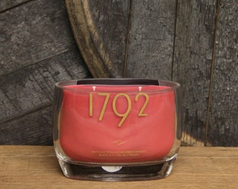 Upcycled 1792 Bourbon Candle, Recycled Bourbon Bottle Candle Handmade Soy Candle / Recycled Glass Bottle / Whiskey Gift / Father's Day Gift