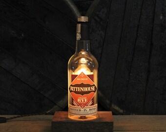 Rittenhouse Whiskey Bottle Lamp, Bottle Light, Perfect Gifts For Men, Bourbon Gift, Whiskey, Guy Gift, Fathesr Day Gifts