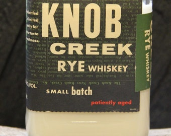 Knob Creek Rye Whiskey Candle / Bourbon Bottle Candle /  Soy Candle / Man Candle Whiskey Gift, Bourbon Gifts for Him, Father's Day Gift