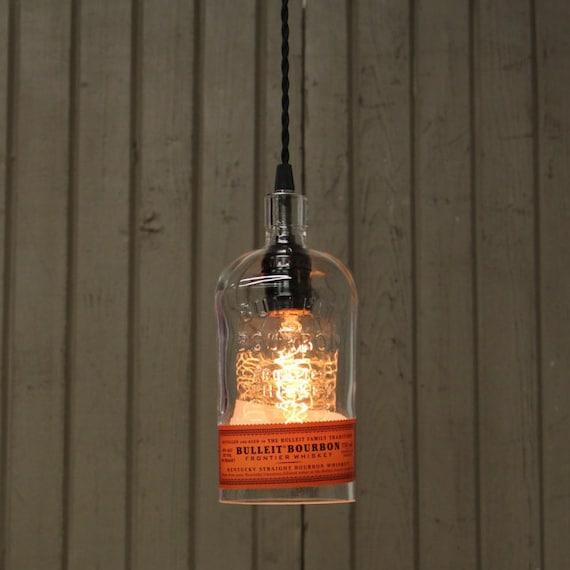 Bulleit Bourbon Bottle Pendant Light Bar Lighting Bourbon | Etsy
