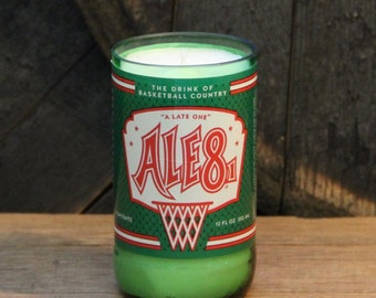 Ale 8 One Soda Bottle Candle, Soy Wax Candle, Kentucky Home Decor, Bottle Collector, Man Candle, Housewarming Gift, Vintage Glass Bottle