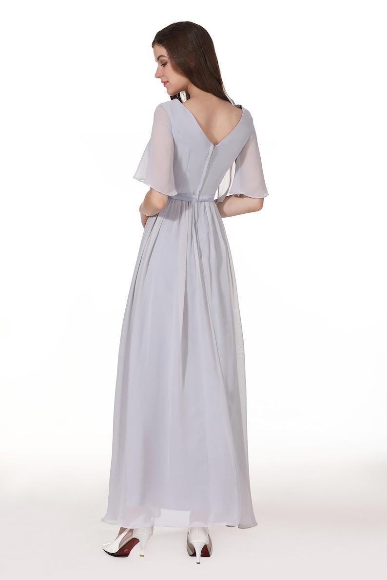 Chiffon V-Neck Bridesmaid Dress