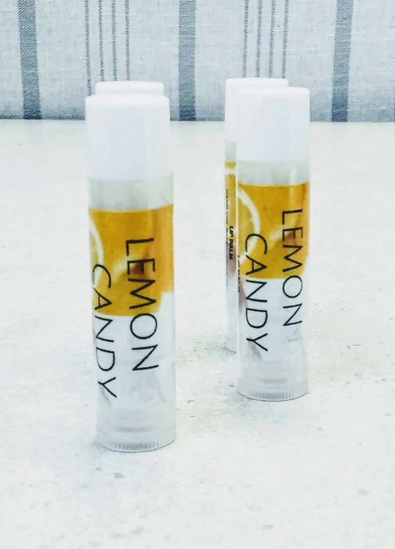 Lemon Lip Balm~Lemon Candy Lip Balm~Organic lip balm~Lemon Candy Flavor Lip  Balm~Flavored Lip Balm~Fruity Lip Balm