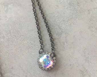 Swarovski Single Stone necklace with crystals