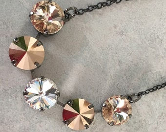 5 stone 12mm swarovski necklace