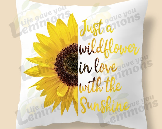 Wildflowers in the Sun Pillow