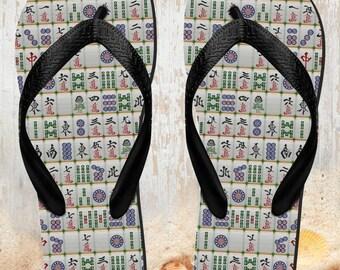 5907ed6c057f6 Mahjong flip flops   Etsy