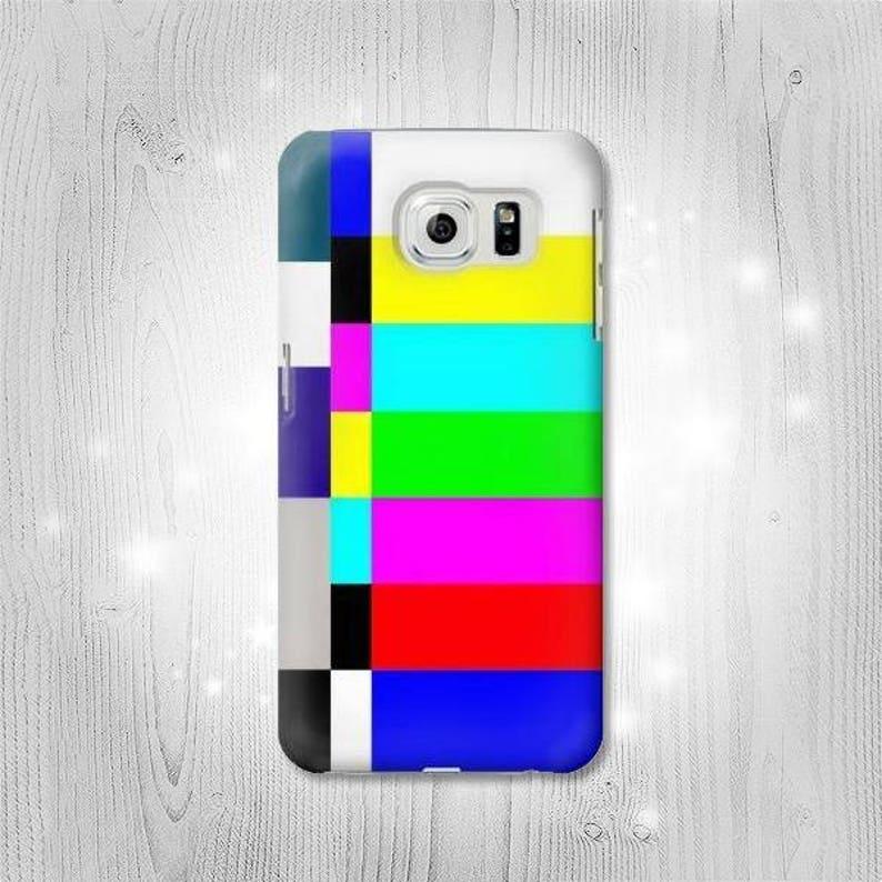No Signal Tv Hard & Leather Flip Case Huawei P20 Mate 10 Honor LG V40 G7  Motorola Moto Nokia OnePlus 6 5 Sony Xperia