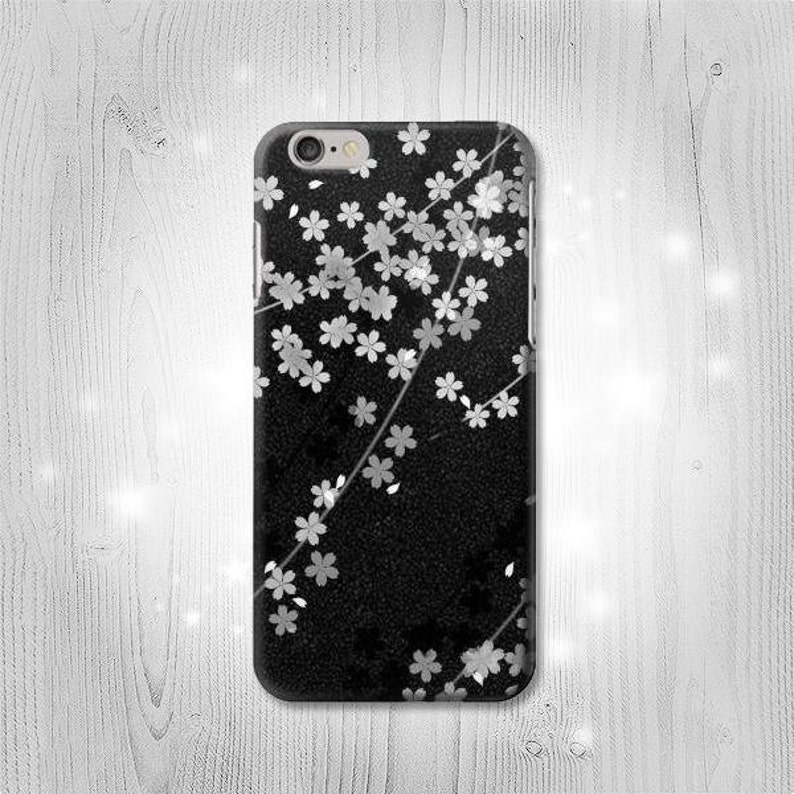 finest selection 0f5bf 9c64a Japanese Kimono Style Black Flower Hard & Leather Flip Case iPhone Xs Max  XR X Samsung Galaxy S10 A70 A50 A40 A8 Note 9 J7 J3 Google Pixel