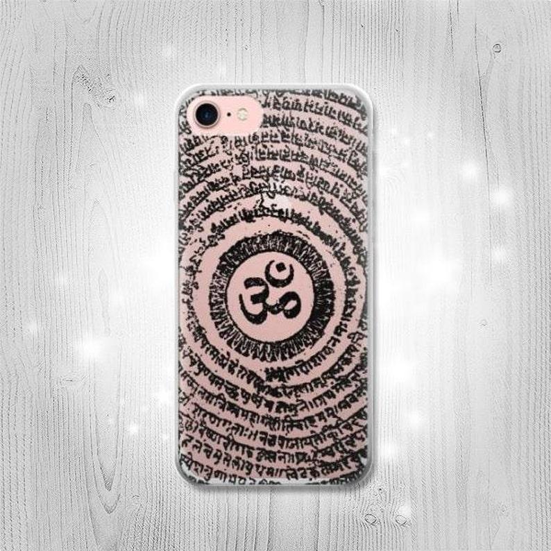 Om Symbol Tattoo Transparent Clear Case For iPhone 12 Pro Samsung Galaxy Google HTC LG Motorola OnePlus Huawei Sony