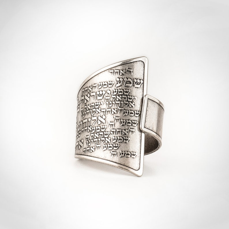 Unisex 925 sterling silver plated open adjustable ring