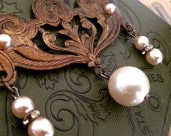 Vintage Assemblage Statement Necklace