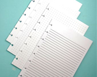 Discbound Inserts - Blank, Bullet, Lined, Graph