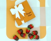 Chocolate Dipped Marzipan Strawberries Box Of 9 Just Because Thank You Gift