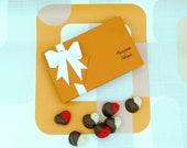 Marzipan Hearts Box Of 15 Chocolate Dipped Valentines Heart Lovers Romantic Foodie Gift