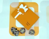 Marzipan Donuts Box Of 12 Dark Chocolate Novelty Foodie Gift Doughnut Cake Toppers Letterbox Friendly
