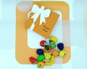 Marzipan Fruits Box Of 9 - Marzipan Gift for Foodies Cake Topper Decoration